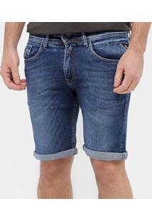 Bermuda Jeans Replay Básica Masculina - Masculino-Azul