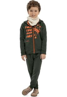 Conjunto Infantil Jaqueta E Calça Verde