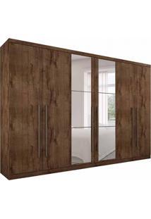 Guarda-Roupa Casal Com Espelho Bari 6 Pt 6 Gv Canela