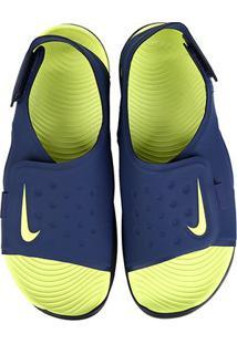 Sandália Infantil Nike Sunray Adjust 5 - Masculino-Marinho+Preto