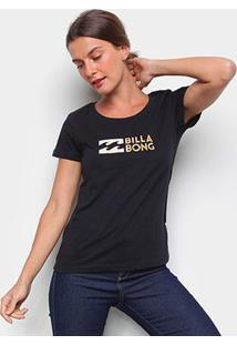Camiseta Baby Look Billabong Made Of Sun Feminina - Feminino-Preto