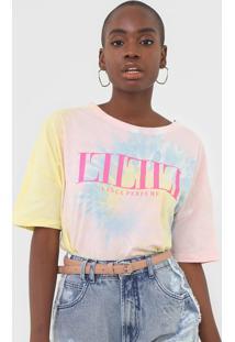 Camiseta Lança Perfume Tie Dye Amarela/Rosa