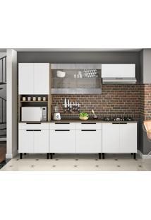 Cozinha Compacta Itamaxi I 11 Pt 3 Gv Branca E Castanho