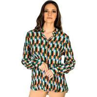 50e9471d22db5 Camisa Estampada Colcci - Feminino-Verde