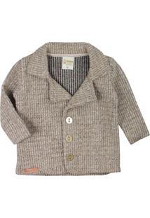 Jaqueta De Bebê Tweed Sweet Marrom/Bege