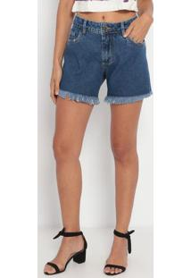 Short Jeans Com Pespontos- Azul Escuro- My Favorite My Favorite Things