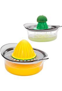 Espremedor De Frutas Multiuso - Euro Home - Verde / Amarelo