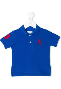 Camisa Polo Para Meninas Azul Cotton infantil   Shoes4you 8dd5fce276