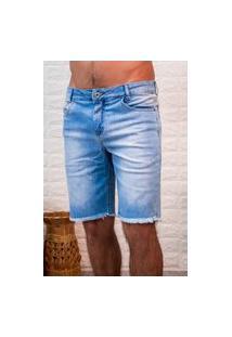 Bermuda Jeans Masculina Arauto Modelagem Slim Jeans Delave