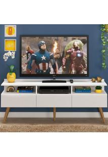 Rack Para Tv Até 65 Polegadas 3 Portas Trust Branco - Pnr Móveis