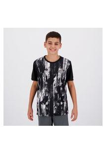 Camisa Santos Fold Infantil Estampada Preta