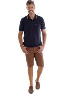 Bermuda Sarja Slim Kassis Masculina - Masculino-Marrom
