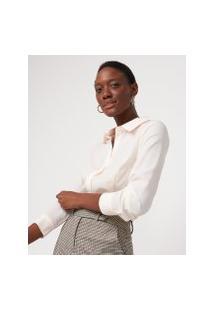 Amaro Feminino Camisa De Crepe Com Corte Tradicional, Rosa Claro