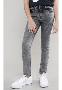 Calça Jeans Infantil Com Bolsos Preta
