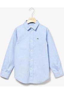Camisa Infantil Lacoste Regular Fit Masculina - Masculino