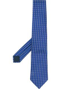 Lanvin Gravata Com Estampa Geométrica - Azul