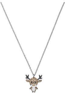 Colar Little Deer- Dourado & Prateado- 38Cm- Swaswarovski