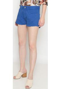 Short Em Sarja Desfiado- Azul- Pacificpacific Blue
