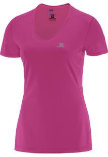 Camiseta Comet Ss Rosa P Feminina - Salomon