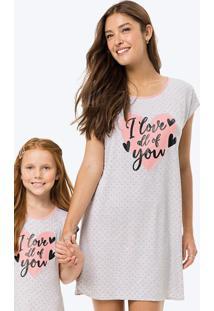Camisola Cinza Love Feminina Tal Mãe