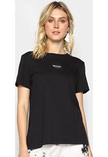 Camiseta Colcci Básica Thank You Next Feminina - Feminino-Preto