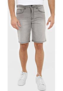 Bermuda Jeans Quiksilver Reta Every Cinza