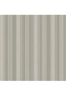 Papel De Parede Texturizado- Verde & Bege- 1000X52Cmshark Metais