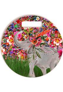 Tábua De Corte Elefante Redonda Redondo 30 X 30 Cm Vickttoria Vick Plus Size