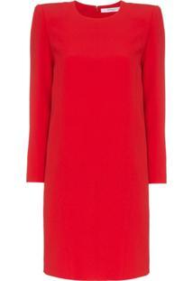 Givenchy Vestido Tubinho Em Seda - Vermelho