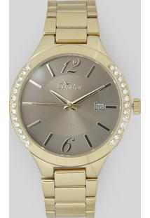 Relógio Analógico Condor Feminino - Co2115To4C Dourado - Único