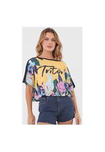 Camiseta Triton Floral Amarela