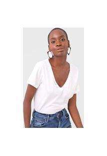 Camiseta Forum Gola V Off-White