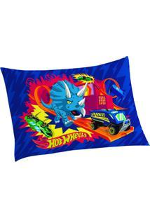 Fronha Hot Wheels®- Azul Vermelha- 50X70Cm- Lelepper