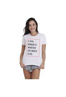 Camiseta Jay Jay Basica Real Woman Branca Dtg