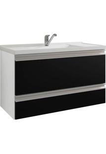 Gabinete De Banheiro Treviso 1 Pt 1 Gv Branco E Preto