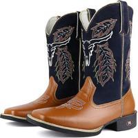 Bota Couro Texana Country Sapatofran Masculina - Masculino-Marrom 6f36c52b902