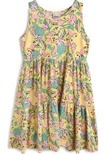 Vestido Rovitex Flamingo Amarelo