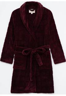 Roupão Em Fleece Com Textura