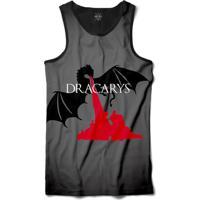 Camiseta Insane 10 Regata Dragão Dracarys Sublimada Preto Vermelho d052ee0c75b