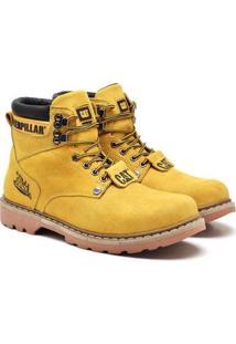 Bota Caterpillar Second Shift Boot Masculino - Masculino-Amarelo
