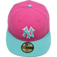 3fba3b5f21320 Boné New Era 5950 Perf Broot New York Yankees Rosa