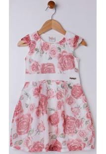 Vestido Infantil Para Menina - Bege