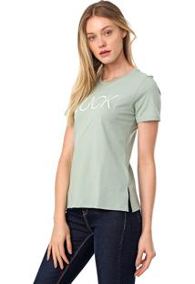 Camiseta Calvin Klein New Year Luck Verde