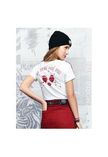 T-Shirt Feminina Branca No Eyes For You