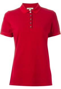 Burberry Camisa Polo - Vermelho