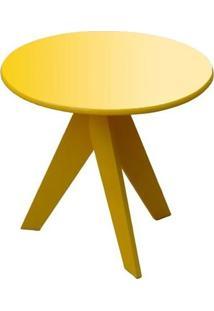 Mesa De Apoio Lolla Com Pés Palito 50X50 Cm Amarelo Fosco
