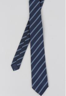 Gravata Masculina Listrada Em Jacquard Azul Marinho - Único