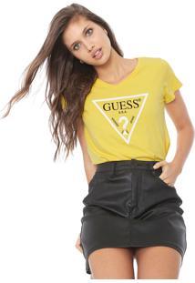 Camiseta Guess Logo Amarela - Kanui