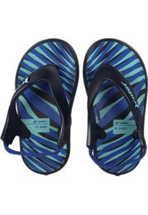 Sandália Infantil Grendene Rider R1 Masculina - Masculino-Azul