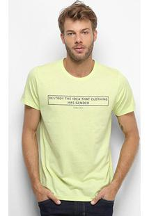 Camiseta Colcci Clothes Has Not Gender Masculina - Masculino-Amarelo